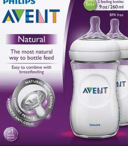 Tesco Prescot avent natural bottles £3.38 for a pack of two