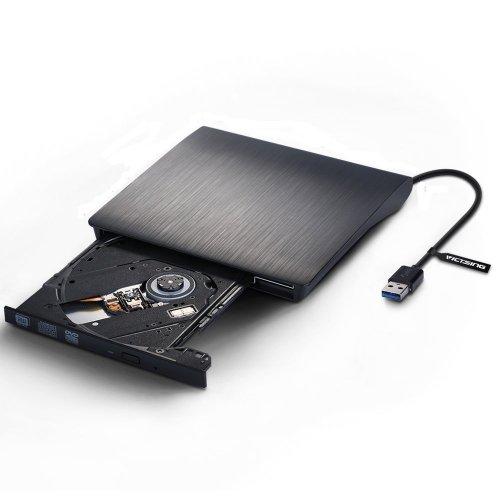 VicTsing Ultra Slim External USB 3.0 High Speed CD-RW DVD-RW Super Drive Player Writer Burner for Netbook, Notebook, Desktop, Laptop, Plug and Play for Windows 2000, XP, Vista, Windows 7, 8 Apple MAC OS, £26.99 Fulfilled by Amazon