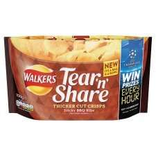Tesco: Walkers tear 'n share bag less than half price. £2.09 down to £1.00