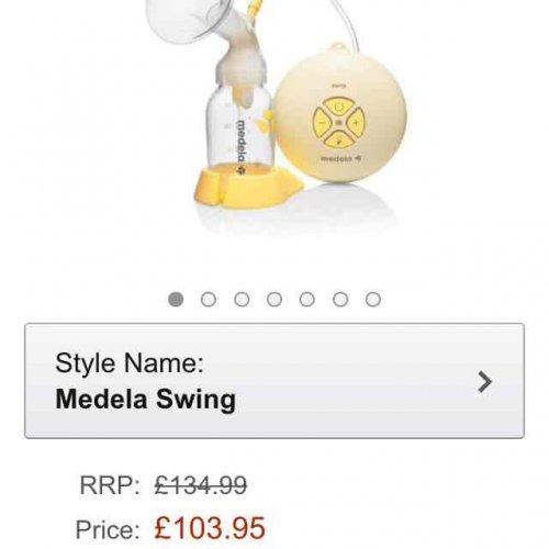medela swing £103.95 Amazon & john Lewis