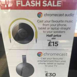 chromecast audio half price only £15 Currys PCWorld