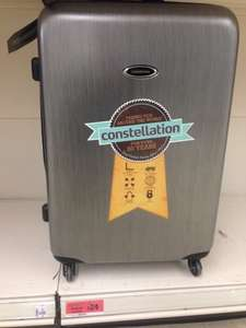 "Constellation large 28"" silver hard shell Suitcase £24 @ Sainsbury's - Darnley"