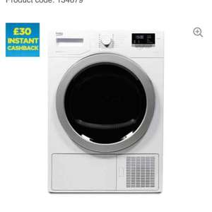 BEKO Select DSX83410W Heat Pump Tumble Dryer - White £349 (Possible £320 after cashback) @ Currys