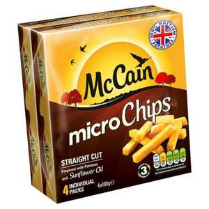 McCain's Micro Chips Straight & Crinkle Cut £1 [4x100g] @ Farmfoods