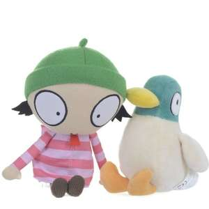 Sarah and Duck Cbeebies Twin Pack Plush with Sound £4.32 @ Amazon (add on item / £20 spend)