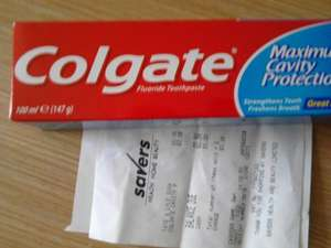 Colgate toothpaste 39p at Savers