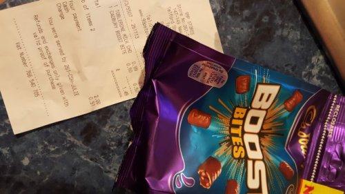 Cadbury boost 108g bag *50p* at 99p stores