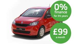 New Skoda Citigo 1.0 3 door SE (red, with air con, 5k miles) for £99 deposit & £99 a month 0% APR 42 month term PCP deal Total £4257 @ Lookers Motor Group