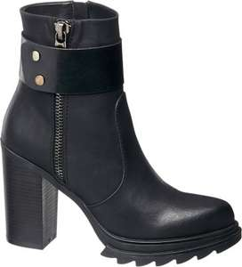 Ladies' chunky ankle boots £5 delivered @ Deichmann