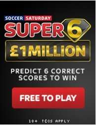 Play skybet's Super6 game FREE for a chance to win a million!