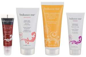Free Balance Me items with April's Edition of Glamour Magazine; Lip Balm or Hand and Body Wash, or Radiance Face Mask or Tinted Wonder Eye Cream