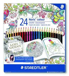 Staedtler 185 C24JB Noris Colour Colouring Pencils, Exclusive Johanna Basford Edition - Assorted, Pack of 24 - £2.83 @ Amazon (Add-on-Item)