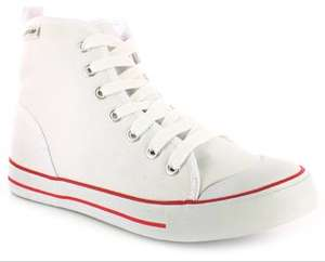 White Dunlop 'frankie' hi top trainers £3 sizes 3-8 free click & collect at wynsors