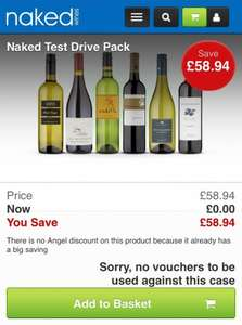 6 Free Bottles of Wine - Collected or £4.99 delivered @ Naked Wines