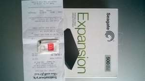 Discounted/Clearance/Discontinued Seagate Expansion Portable Drive 500GB for only £14.50, at Sainsbury's