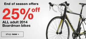 End of season sale on all Boardman bikes at Halfords