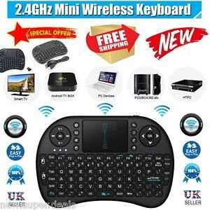2.4G Mini Wireless Keyboard Control Remote Smart Touchpad For Android TV BOX £6.90 del@ebay via new.super.deals