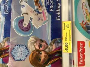 Frozen 2 wheel folding scooter £5 in store @ Tesco - Dudley