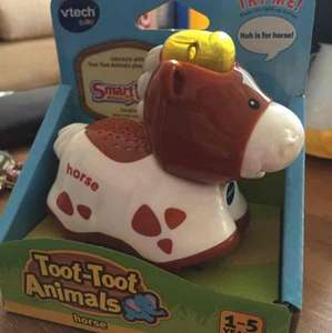 vtech toot toot animals - scanning at £3.50 in Sainsbury's West Hove.