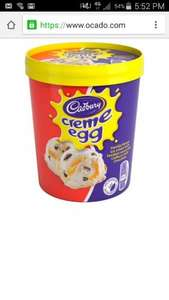 Cadburys cream egg ice cream 480ml only £1.05 @ Tesco express