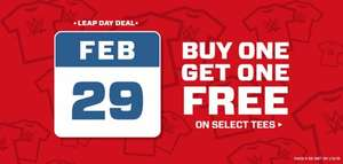 Buy One Get One Free on Selected Tees - WWE Euroshop