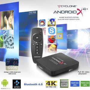 Sumvision Cyclone Android x4 plus 4k Media Player with Bluetooth and Remote BRAND NEW MODEL! £39.99 @ 7dayshop