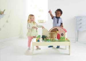 Asda Wooden Farm Yard & 15 pieces included. reduced from £25 to £6.75 instore @ Asda Living (Glasgow Fort) kids wooden toy