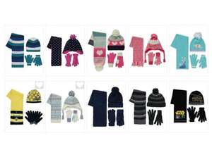 ** Kids Hat, Scarf and Gloves Set from £2 @ George (Free C&C) **