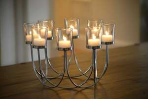 Tea Light Glass Chrome Candle Holder £9.99 with code @ Satfield