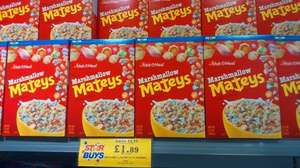 marshmallow mateys [lucky charms cereal] = 320g - £1.89 @ Home Bargains