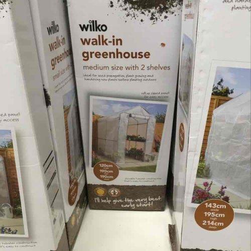 Wilko walk in medium greenhouse £25 instore @ Wilko
