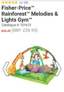 Fisher Price Rainforest Melodies & Lights Gym for £34.49 delivered at Smyths!