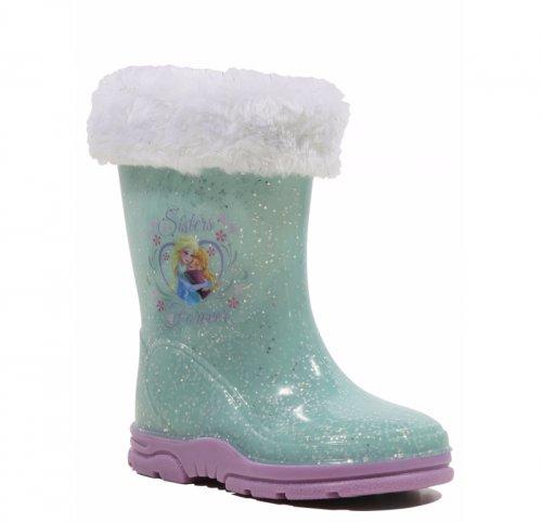 Disney Frozen Faux Fur Trim Wellington Boots Was £9.00 Now £4.00 @ Asda George (free C+C)