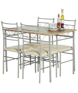 Less than half price Oslo Oak Effect Dining Table & 4 Metal Chairs £79.99 @ Argos