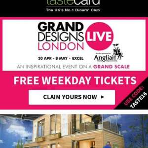 2 free weekday tickets to Grand Designs Live at LDN Excel 2016