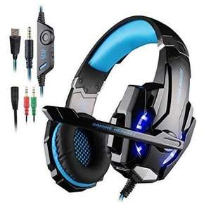 ECOOPRO Gaming Headset PS4 Headset Gaming Headphones with Microphone, LED Lights for PS4, Laptop, Tablet, Mobile Phones, 3.5mm Stereo(Blue) - Sold by ECOOPROO and Fulfilled by Amazon £15.99 (Lightning Deal)
