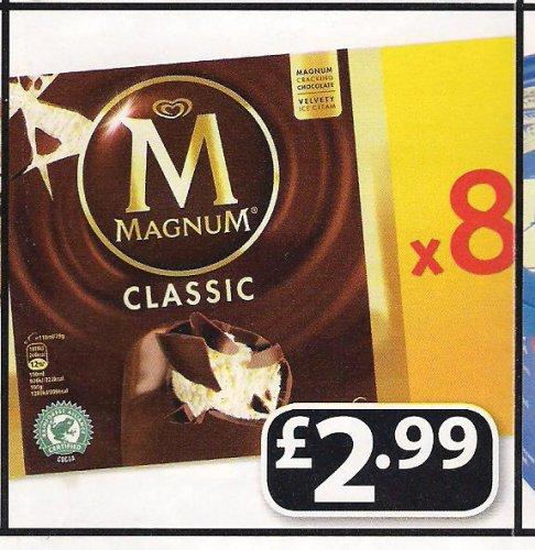 Magnum Classic 8 for £2.99 @ Farmfoods