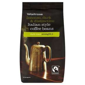 Waitrose Intense, Dark & Distinctive Italian Style Coffee Beans £1.55 after pick your own
