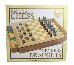 House of Marbles Deluxe Wooden Chess & Draughts Set £10.99 Prime / £15.74 Non Prime @ Amazon (temp oos - under other buying choices)