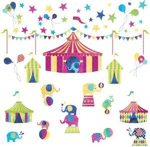 Elephant Circus Wall Stickers (Was £15) Now £4.00 Delivered @ JoJo Maman Part 43