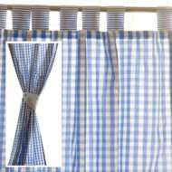 Lined Gingham Curtains and Tie Backs in Blue or Pink (Long or Medium)  Was £49. Now £10 delivered @ JoJo Maman Bebe