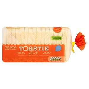 Tesco White Toastie Thick Bread 800G 50p In Store Or Online @ Tesco