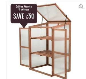Dobbies Wooden Growhouse - misprice now £39.99 delivered
