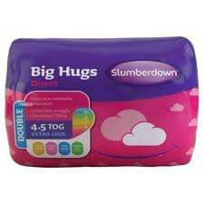 Slumberdown Big Hugs Double Duvet 4.5 Tog £3.00 @ Tesco In-store Only