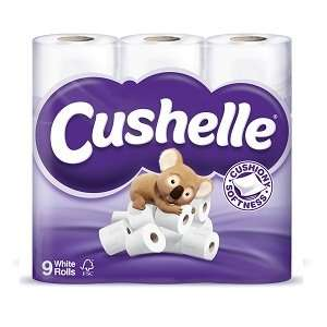 Cushelle 9 Pack £3.00 at Co-Op