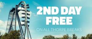 2 days in park, night at hotel, Approx £34pp based on a Family Four INCLUDING Breakfast @ Thorpe Park! (see dates in 1st comment)