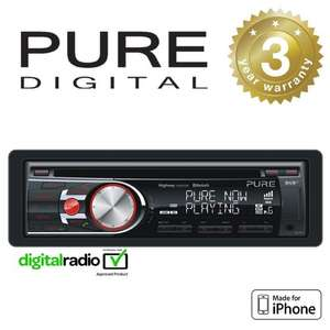 Pure DAB+ Radio Car Headunit Stereo CD Player With iPhone Control & Bluetooth £74.95 delivered @ Amazon