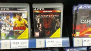 metal gear solid 5: the phantom pain day one edition for £14 on ps3 at tesco instore and online