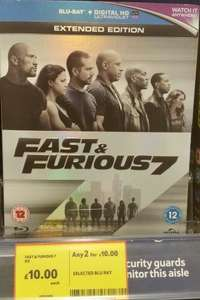 Fast & Furious 7 Blu-Ray, Home (Party Edition) Blu-Ray 2 for £10 Instore @ Tesco