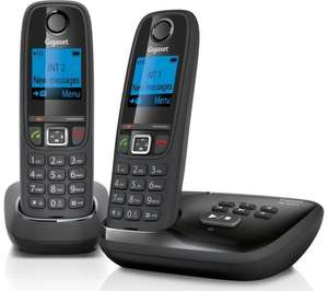 GIGASET Duo AL415A Cordless Phone with Answering Machine - Twin Handsets  - £24.99 Save £35.00 Was £59.99 @ Currys